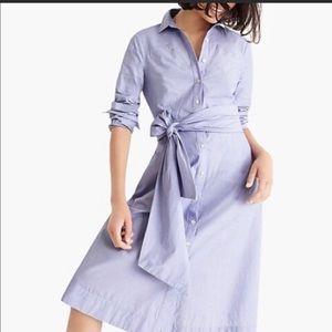 J. Crew ladies dress long sleeved light blue